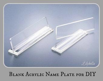 Blank Acrylic Desk Plate Name Plate Set Of 3 Diy