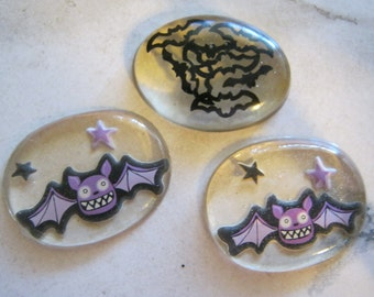 Bat Clear Resin Cabochons