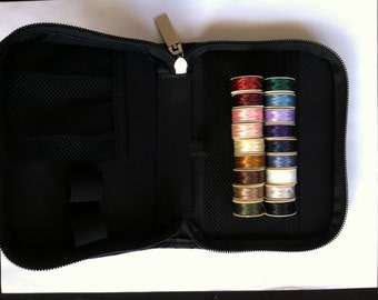 Organizer Travel Pouch for Tools, sewing thread, Cosmetic Bag, storage carry case for external hard drive many uses with zipper