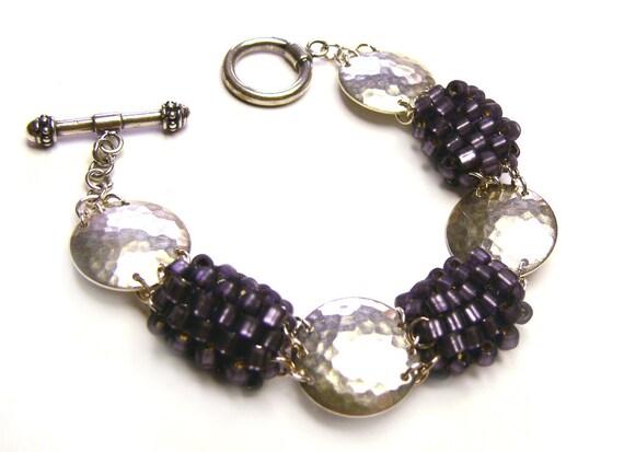 beaded jewelry kit tutorial bracelet pattern amethyst