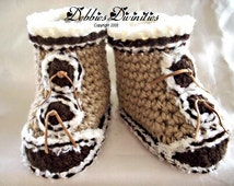 Baby Bootie Crochet Pattern - Fur Trimmed Snow Boots