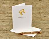 You make it look easy - letterpress card
