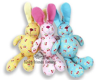 Baby Bunny Plush Toy Rabbit Sewing Pattern PDF