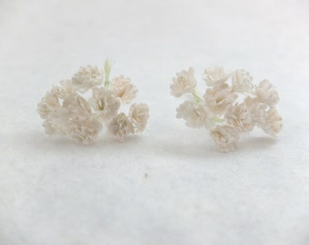 20 10mm off white mulberry gypsophila - paper flowers
