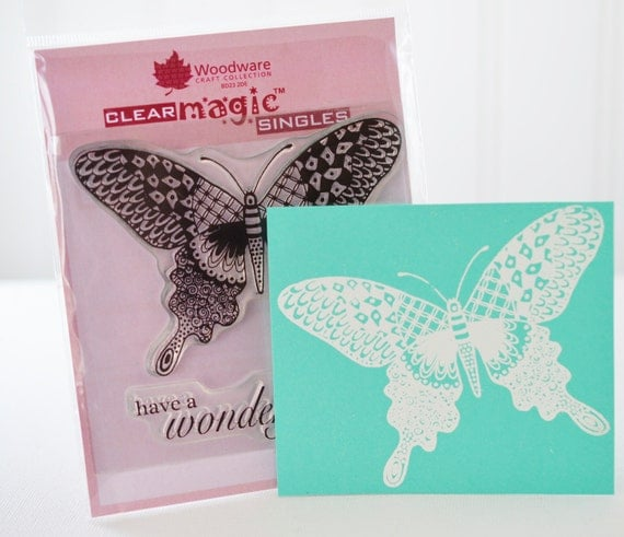 Butterfly Zentangle Clear Stamp