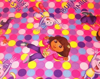 MadieBs Dora Best Friends Crib or Toddler Fitted  Bed Sheet  Custom Made