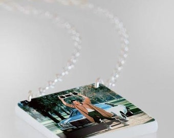 Cameron Crowe, John Cusack, 80s Movie, Say Anything The Movie Necklace - Cult Classic, Photo Necklace