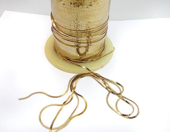 Vintage Shiny Brass Serpentine Snake Chain (6 feet) (CP217)