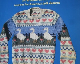 Sweater Knitting Patterns Countryknits by Carol Huber Men Women Vest Cardigan Vintage Paper Original NOT a PDF