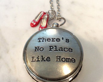 Wizard of Oz  Jewelry - There's No Place Like Home Compass Necklace