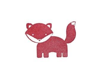 SALE Cute fox rubber stamp