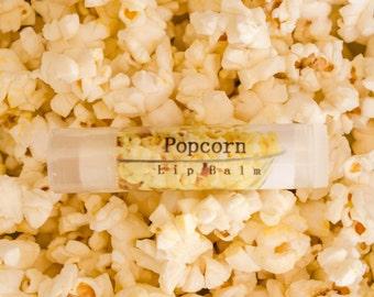 Popcorn Lip Balm, Shea Butter, Lip Care, Children's Flavor, Kids Flavor, Birthday Favor, Moisturizer, Tube, Travel Lip Balm, Food Flavor