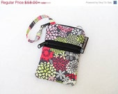 ON SALE Cell Phone Bag Small Crossbody Bag iPhone Shoulder Purse Cross Body Purse - Short Zip Cell Phone Bag - Fast Shipping - May Day Fabri