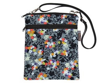 Tablet Bag iPad Case iPad Sleeve iPad Cover Ipad Air / Tablet TRAVEL BAG / adjustable shoulder strap /Fast Shipping - Urban Flowers Fabric