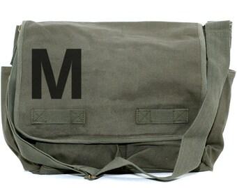 Messenger Bag, Monogram Bag, Personalized Bag, Initial Bag, Crossbody Canvas Bag, Personalized Groomsmen Gift, Personalized Diaper Bag