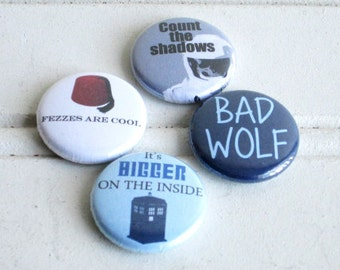 Doctor Who Quote Pinback Button