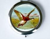 Duck Compact MIRROR Pocket Mirror flying nature bird birds