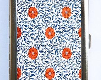 Floral Pattern #2 Cigarette Case id case Wallet Business Card Holder botanical