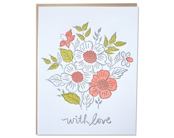 With Love Letterpress Card