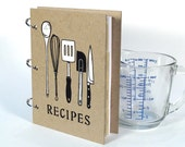 Recipe Book - Blank Journal - Utensils (5 in. x 7 in.) - Size No.2