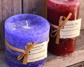 SALE: Mixed Set of Rustic Pillar Candles