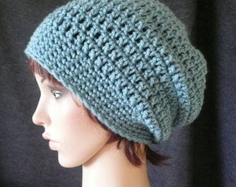 Super Slouchy Beanie in Antique Blue