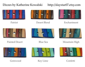 CUSTOM Wooden Diz -- COLOR CHOICE-- hand-made hardwood tool for spinners and spindlers (daystar) Katherine Kowalski woodturning, red, blue