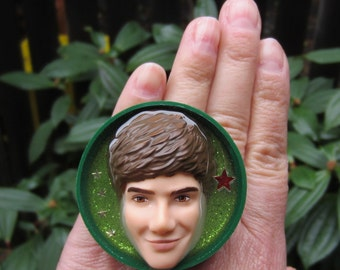 Sale Item - Liam 1D - upcycled bottle cap ring