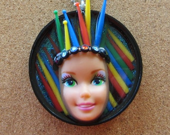 Pick up Sticks - Upcycled Barbie Doll Pendant