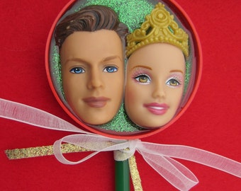 King and Queen of nothing - upcycled Barbie & Ken stick