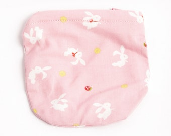 Pink rabbit kids coin purse