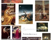 Dollhouse Miniature Paintings Witch Art - Printable Digital Instant Download