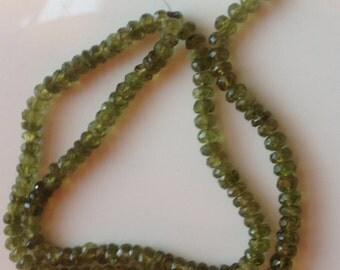 """15"""" Idocrase (Vesuvianite) Strand Faceted Rondelle"""