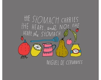 The Stomach Carries the Heart - Limited Edition Lisa Congdon Art Print