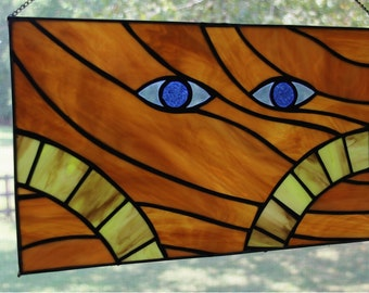 Wormsign - Dune inspired Stained Glass Panel