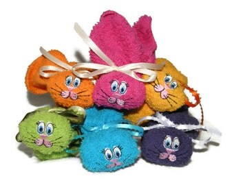 6 Bunnies Baby Basket Item - Ice Pack Boo-boo Bunny Embroidered Set of 6 Baby Safe