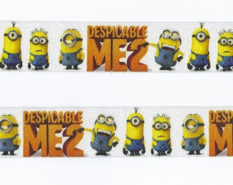 4 yards of DESPICABLE ME 2 Elastic Size One Inch Perfect for Headbands