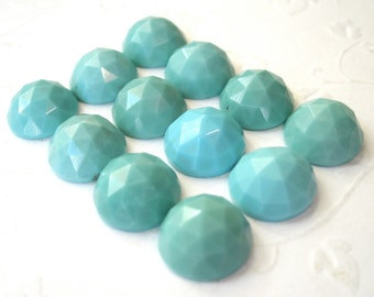 Gemstone Cabochons Turquoise Rose Cut 10mm FOR ONE