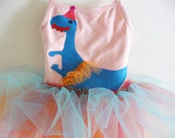 DINOSAUR BIRTHDAY TUTU- Dancing Dinosaur Tutu - Personalized - Sizes 18/24 months, 2/4 years, 4/6 years, 6/8 years and up