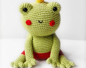 Amigurumi Crochet Frog Patern - Fred the Frog - Softie - Plush