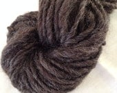 Charcoal 3 border Leicester wool handspun single ply 82 bulky yards naturally colored no dye grey steel rustic farm chic dollmaking crafty