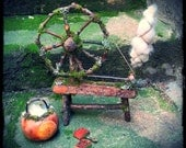 Large Fairytale Spinning Wheel, Blythe Doll Furniture, custom order, fairytale decor, wedding decor, Waldorf, fibre arts,