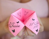 Cootie Catchers- Origami Wedding Programs- DESIGN ONLY .pdf File