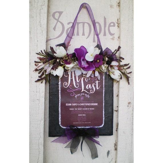 Custom preserved embellished floral wedding invitation decoration memento keepsake