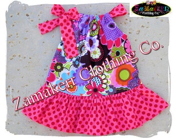 Girl Spring Floral Dress - Flowers Pillowcase Dresses - Easter Baby Girl Clothes 3, 6, 9, 12, 18, 24 month, 2, 2t, 3t, 3, 4, 4t, 5, 6, 7, 8