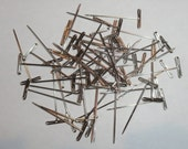 "Nickel Plated T-Pins Pack of 60 Heavy Duty 1.5"" Pins For Knitting Blocking Wires-Made In USA"