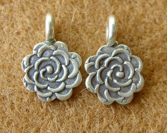 Karen Silver FLOWER CHARMS - 12 Pieces...Reserved for Sharon
