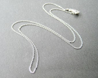 20 inch Sterling Silver Chain Necklace, Fine Gauge Chain, .925 Sterling Silver, Simple Necklace, Lobster Claw Clasp, Handmade