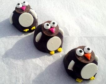 Cake Balls: Poppin' Penguin Cake Bitty Bites. Christmas Gift. Hostess Gift. Stocking Stuffer