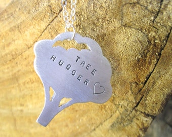 Tree Hugger Necklace-Vegan Necklace-Gift-Birthday-Anniversary-Wedding-Eco Friendly-Tree Lover-Eco Warrior-Vegan Jewelry